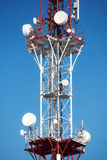 Antenna in red and white color Royalty Free Stock Photography