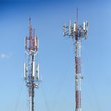 Antenna repeater Stock Images