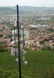 Antenna and repeaters to the country and  to urban villag Stock Image