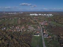 Antenna Romani del villaggio di Sisak immagini stock libere da diritti