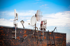 Antenna on the roof Royalty Free Stock Images