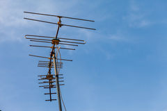 Antenna on the roof Stock Photography