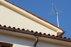 Antenna on the roof. Stock Image