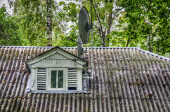 Antenna on the roof Stock Image