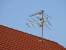 Antenna on roof Stock Photo