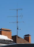 Antenna on the roof Royalty Free Stock Image
