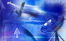 Antenna with satellite Stock Image