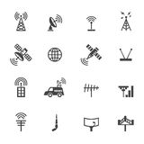Antenna and satellite icons Stock Photography