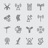 Antenna and Satellite line icon Stock Image