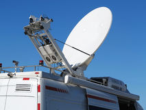 Antenna. Satellite TV antenna on the vehicle royalty free stock photo