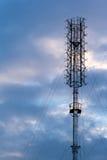 Antenna signal. With sky cloudy Royalty Free Stock Photos