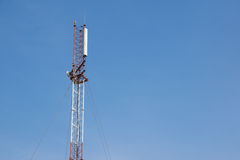 Antenna signal. And blue sky Royalty Free Stock Image