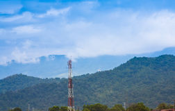 Antenna signals. Royalty Free Stock Images