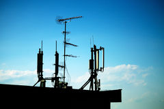 Antenna silhouette Royalty Free Stock Image