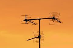 Antenna silhouette sunrise Stock Photo