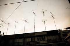 Antenna and sky Royalty Free Stock Image