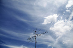 Antenna in the sky Royalty Free Stock Photos