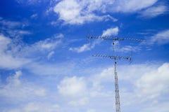 Antenna on sky Stock Image