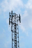 Antenna with sky. Antenna with cloud and blue sky Royalty Free Stock Photography