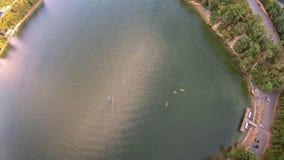 Antenna sopra il wylie Carolina del Sud del lago Immagine Stock Libera da Diritti