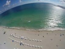 Antenna sopra la spiaggia Immagini Stock