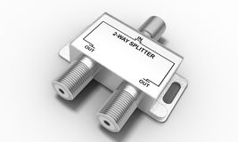 Antenna splitter Royalty Free Stock Image