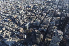 Antenna storica del centro del centro di Los Angeles Immagine Stock Libera da Diritti