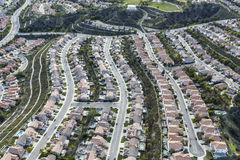 Antenna suburbana della Comunità della camera da letto di California Fotografia Stock Libera da Diritti