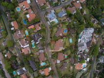 Antenna suburbana di Durban Immagine Stock