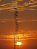 Antenna and sun Stock Photography