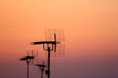 Antenna in the sunset Stock Photos