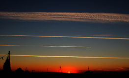 Antenna in the sunset Stock Image