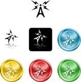 Antenna symbol icon stock illustration