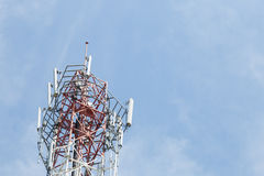 Antenna telecommunications systems Stock Images