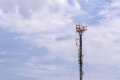 Antenna tower,antenna tower building with the blue sky. Royalty Free Stock Photography