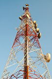 Antenna tower and blue sky Stock Photography