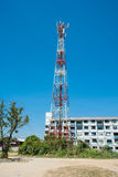 Antenna tower and blue sky Royalty Free Stock Images