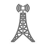 Antenna tower broadcast connection line. Illustration eps 10 Royalty Free Stock Photography