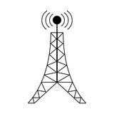 Antenna tower broadcast connection pictogram. Illustration eps 10 Royalty Free Stock Image