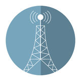 Antenna tower broadcast connection shadow. Illustration eps 10 Stock Photography