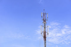 Antenna tower building with the blue sky Stock Photography