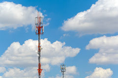 Antenna Tower of Communication Stock Photo