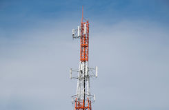 Antenna Tower of Communication and blue sky Stock Photo