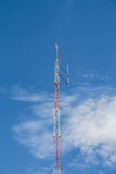 Antenna tower for communication radio Stock Photos