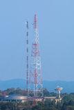 Antenna Tower of Communication station. The big Antenna Tower of Communication station Royalty Free Stock Images
