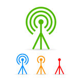 Antenna tower icons set Stock Images