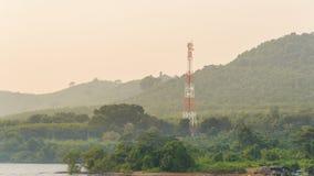 Antenna tower on the mountain Stock Photo