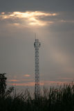 Antenna Tower Silhouette Royalty Free Stock Image