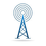 Antenna tower with waves logo Royalty Free Stock Image