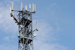 Free Antenna Tower With Many Booster Stock Images - 21408804